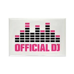 Official DJ Equalizer Rectangle Magnet