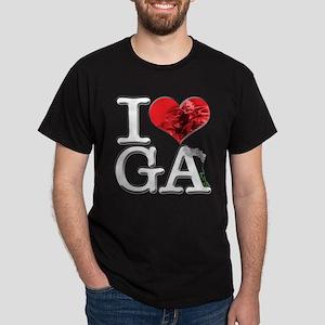 I Love GA-nja Dark T-Shirt