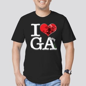 I Love GA-nja Men's Fitted T-Shirt (dark)