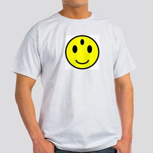 Enlightened Smiley Face Ash Grey T-Shirt
