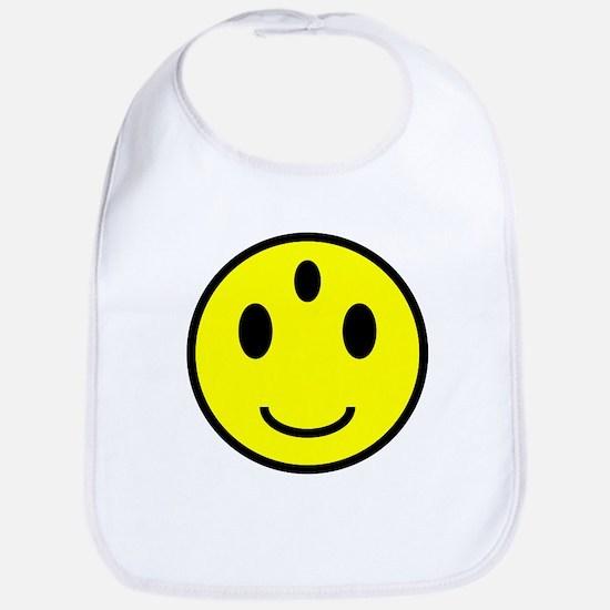 Enlightened Smiley Face Bib
