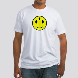 Enlightened Smiley Face Fitted T-Shirt