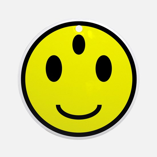 Enlightened Smiley Face Ornament (Round)