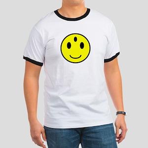 Enlightened Smiley Face Ringer T
