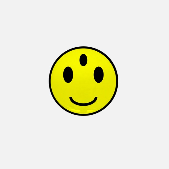 Enlightened Smiley Face Mini Button