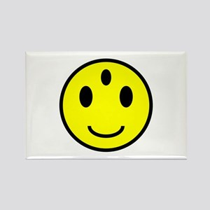 Enlightened Smiley Face Rectangle Magnet