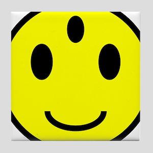 Enlightened Smiley Face Tile Coaster