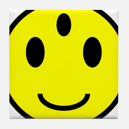 Enlightened Smiley Face Tile Coaster
