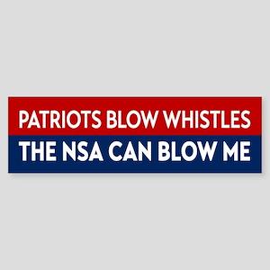 Patriots Blow Whistles Bumper Sticker