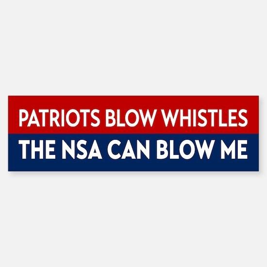 Patriots Blow Whistles Bumper Bumper Bumper Sticker