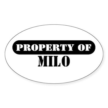 Property of Milo Oval Sticker