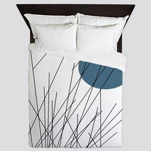 Minimalist Sunset BLUE MOON Queen Duvet