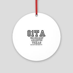 TEXAS - AIRPORT CODES - 01TA - THIR Round Ornament