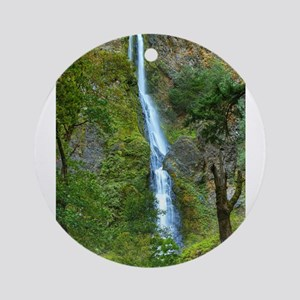 Starvation Creek Falls Ornament (Round)