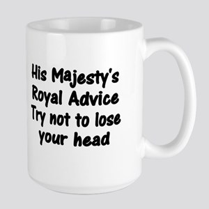 Henry VIII Advice Large Mug