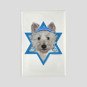 Hanukkah Star of David - Westie Rectangle Magnet