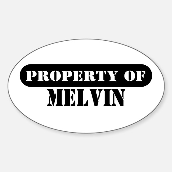 Property of Melvin Oval Decal