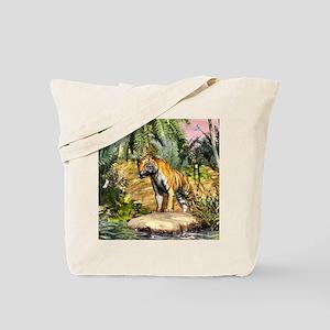 Jungle cat 3D Design Tote Bag