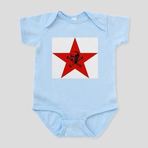 Red Star and Skull Infant Bodysuit