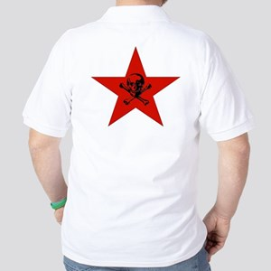 Red Star and Skull Golf Shirt