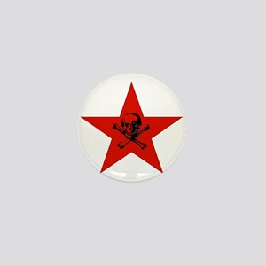 Red Star and Skull Mini Button