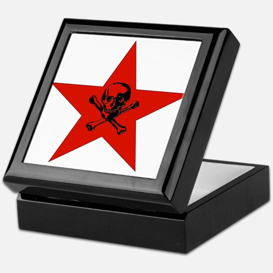 Red Star and Skull Keepsake Box