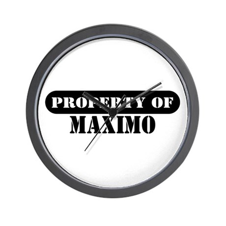 Property of Maximo Wall Clock