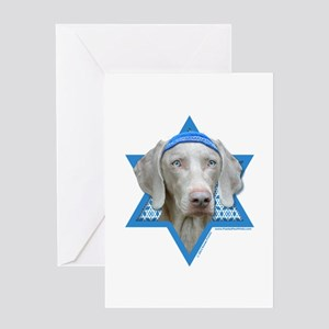 Hanukkah Star of David - Weimie Greeting Card