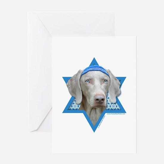 Hanukkah Star of David - Weimie Greeting Card