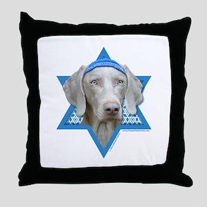Hanukkah Star of David - Weimie Throw Pillow