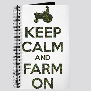 Camouflage Keep Calm and Farm On Journal