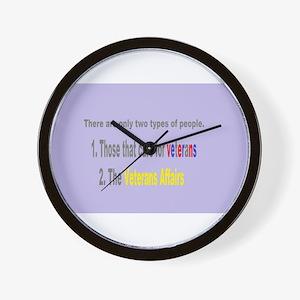 Veterans Affairs Wall Clock
