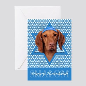 Hanukkah Star of David - Vizsla Greeting Card