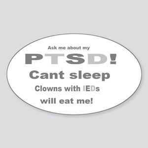 ask ptsd clown Sticker