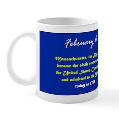 Mug: Massachusetts, Bay State, became the sixth st