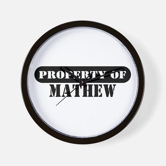 Property of Mathew Wall Clock