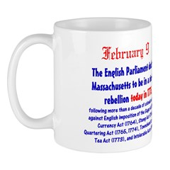 Mug: English Parliament declared Massachusetts to