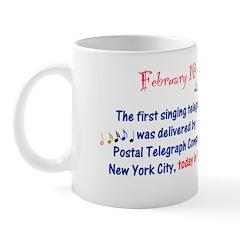 Mug: First singing telegram was delivered by Posta