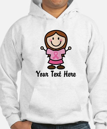 Personalized Breast Cancer Stick Figure Hoodie