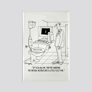 Virtual Workplace in a Bathroom Rectangle Magnet