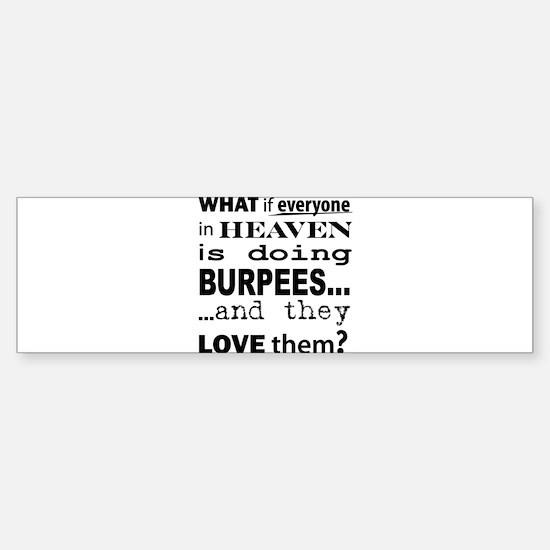 What if? Bumper Bumper Bumper Sticker
