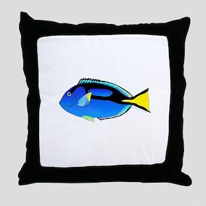 Palette Surgeonfish Regal Tang Throw Pillow