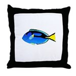 Palette Surgeonfish Regal Tang Throw Pillow