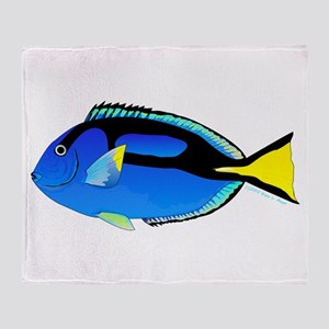 Palette Surgeonfish Regal Tang Throw Blanket