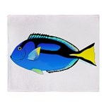 Palette Surgeonfish Regal Tang Throw Blanket