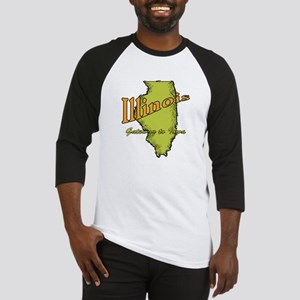 Illinois Funny Motto Baseball Jersey