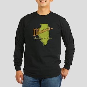 Illinois Funny Motto Long Sleeve Dark T-Shirt