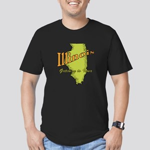 Illinois Funny Motto Men's Fitted T-Shirt (dark)