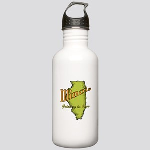 Illinois Funny Motto Stainless Water Bottle 1.0L