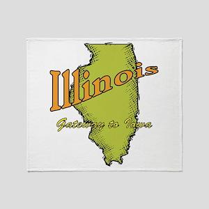 Illinois Funny Motto Throw Blanket